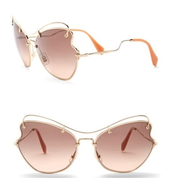 65b31f483 Miu Miu Women's 65mm oversized Brow Bar SunGlasses. NWT. Miu Miu.  M_5afd28c33afbbd460febb364. M_5afd28c43800c55bcddbb982.  M_5afd28c5f9e50135a4c43936